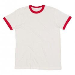 T-shirt uomo bianca e rossa